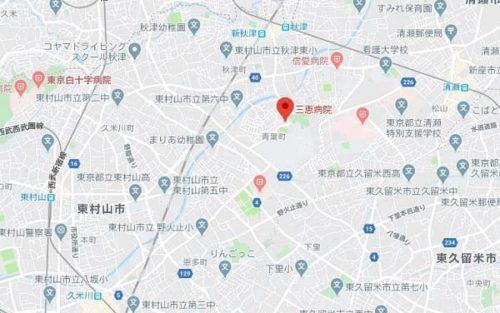 三恵病院地図